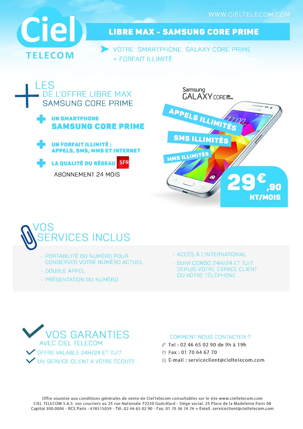 Samsung Core Prime Ciel Telecom