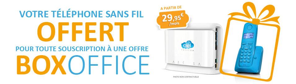 Ciel Telecom : cadeau de bienvenue Box